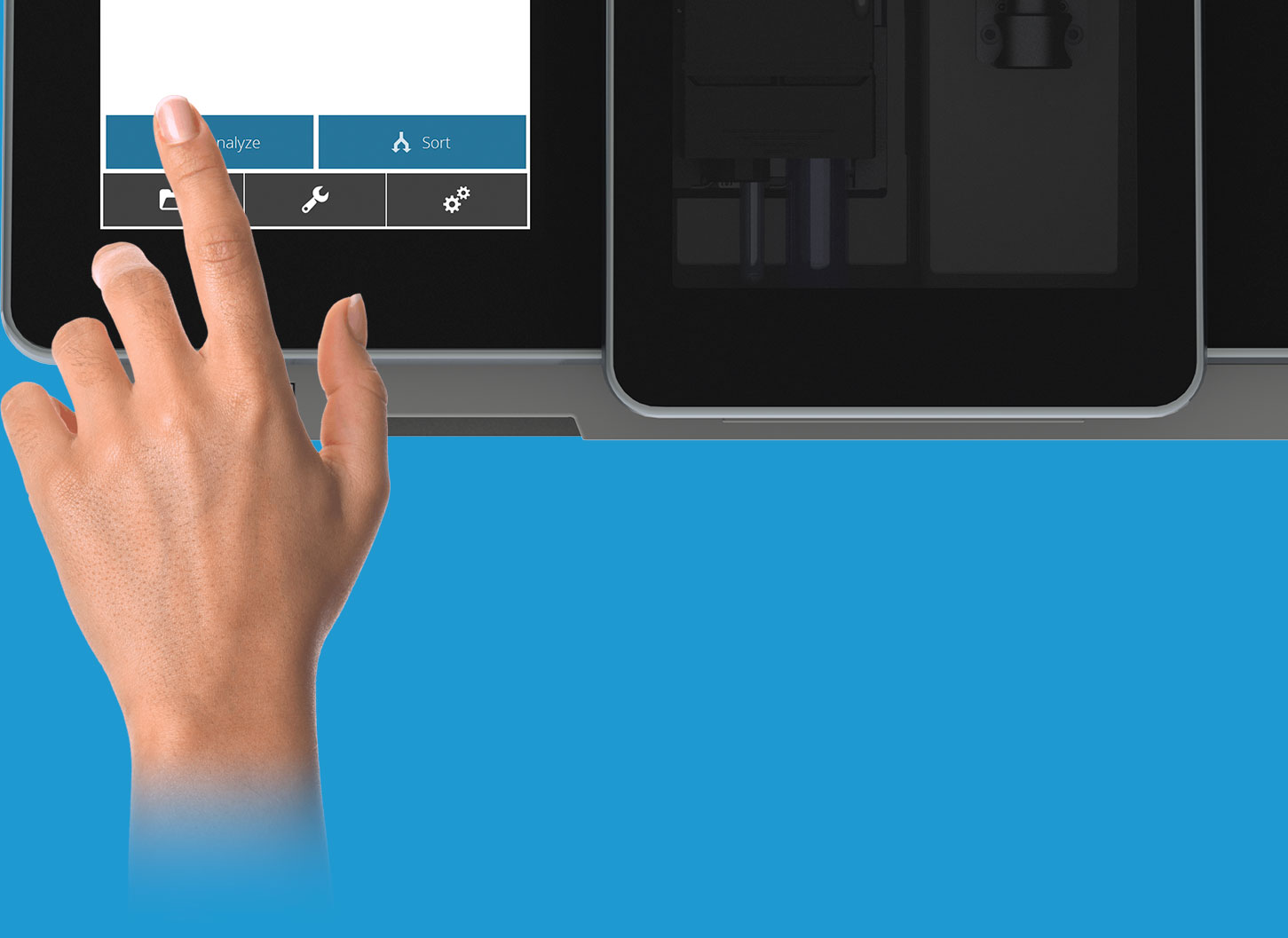 viva features touch screen small size